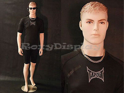 Male Realistic Fiberglass Mannequin Manequin Dress Form Display #MD-KM25