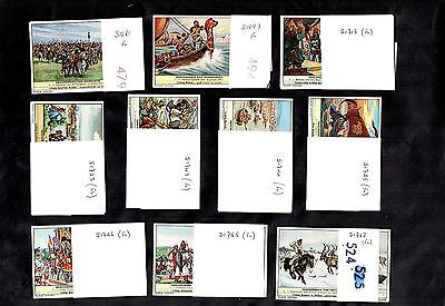 Liebig History Of Countries Lot1 Full 10 Sets Of 6 Cards Poland Greece Yugoslavi