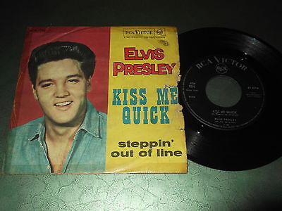 Elvis Presley 45 giri Kiss me quick - Steppin' out of line