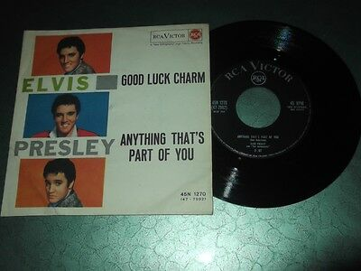 Elvis Presley 45 giri Good Luck Charm - Anthing That's Part Of You - Italy