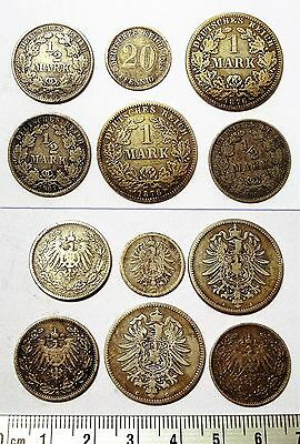 Allemagne. Lot Anciennes Pieces. Argent. Germany.