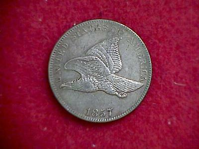 1857 Flying Eagle Cent VF/XF NICE Coin