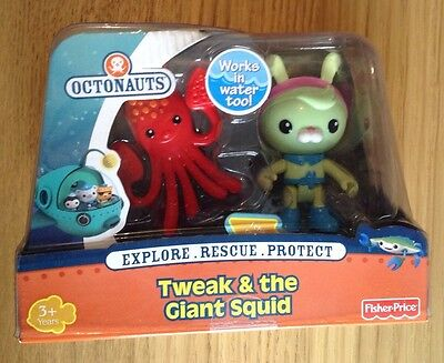 NEW Tweak & the Giant Squid - Octonauts Figure and Creature Pack - Fisher Price
