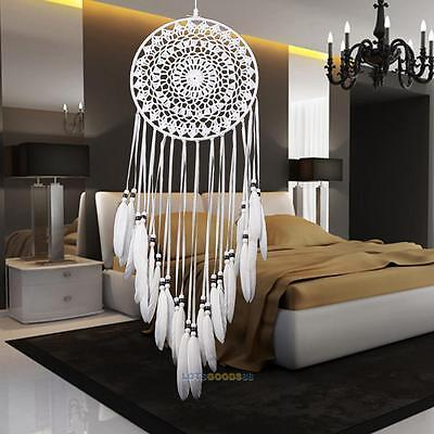 Handmade Lace Dream Catcher With Feathers Car Wall Hanging Decoration Ornament