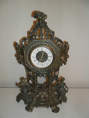 Antique Baroque Metal Clock - Made in West Germany