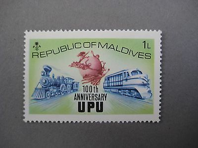 Vintage collectible stamp, 100th anniversary UPU, Republic of Maldives