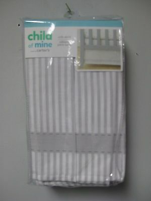 Carter's Child Of Mine Baby Crib Skirt Grey Striped GREAT BABY SHOWER GIFT