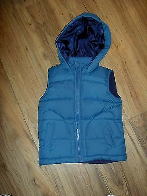 Nice Childrens Hooded  Body Warmer Gilet Blue Size 2 To 3 Years Good Condition