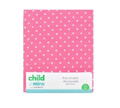 Carter's Child Of Mine Pink Fitted Crib Sheet 100% Cotton BABY CLOTHES GIFT