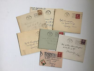Lot of (7) Vintage Christmas Cards from 1920's-1930's