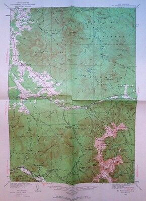 Vintage USGS  Topo Map      1935 Mt. Washington Coos County New Hampshire