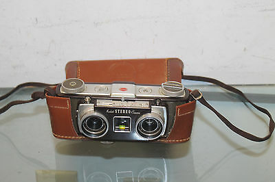 1950s KODAK STEREO Camera w/ Leather Case