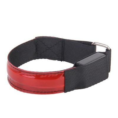 Red Hiking Running Cycling LED Flashing Reflective Ankle Ar​mband Belt Safety
