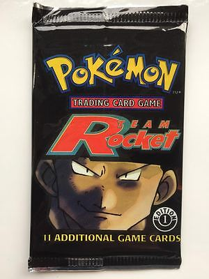 Team Rocket 1st Edition Sealed Booster Pack Pokemon Cards Mint RARE Charizard 1