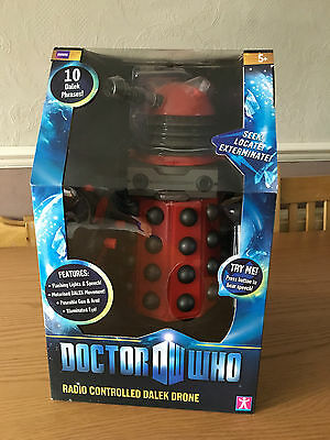 "Doctor Who 12"" Radio Controlled Red Dalek Drone * New * Sealed *"