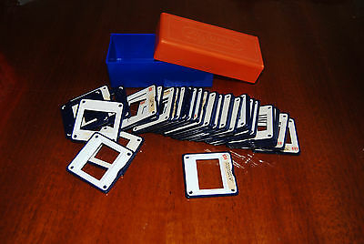 Agfa Plastic Slide Mounts and Storage Boxes