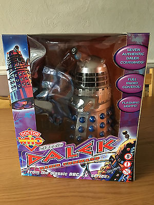 "Doctor Who 12"" Radio Command Classic Dalek Silver/Blue * New * Sealed *"