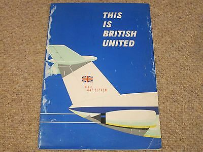 """""""This is British United"""" Airline brochure"""