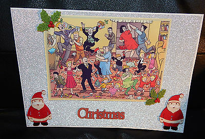 V-Large: The Broons & Oor Wullie Sparkly 3D Christmas Party Card. New & Sealed.