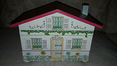 Vintage 1940's Japan Wind-Up Music/jewelry Box Painted House