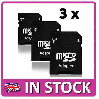 3x Micro SD Memory Card to Standard Full SD SDHC Adapter Adaptor Converter UK