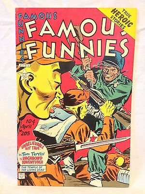 Famous Funnies Comics 1953, Famous Funnies #205, F/VF, War cover