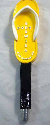 PORT BREWING Co. San Diego CA Figural Yellow Flip Flop Beer Tap Handle Lot #20