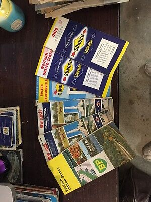 Lot Of 80 Road Maps, Misc States