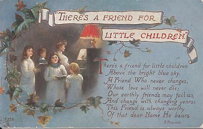 A88.Tucks Greetings Postcard.There's a friend for little children. A Midlane