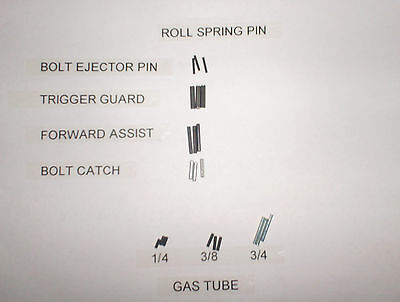 Roll Spring Pin Combo Set   F/A Gas Tube Trigger Guard Bolt 10 OF EA  Total 70