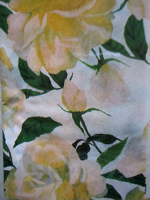 """YELLOW BEAUTIFUL ROSE DESIGN WRAPPING TISSUE PAPER 16 SHEETS 20""""x20"""" EACH SHEET"""