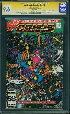 Crisis on Infinite Earths #12 (CGC SS 9.6 NM+)(DC 1986) Signed Perez! New Flash!