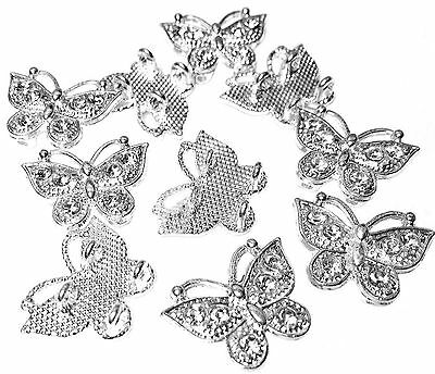 15 Bulk Wholesale Silver Plated Butterfly Connectors for DiY Bracelet Necklace