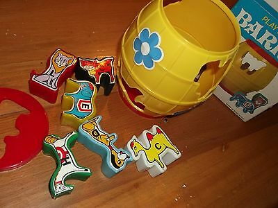 VINTAGE PLAY & LEARN BARREL, childrens learning toy