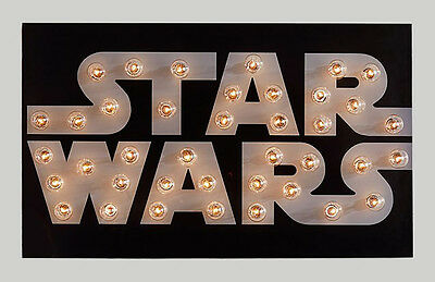 POTTERY BARN KIDS Star Wars Marquee Wall Art, NEW IN BOX