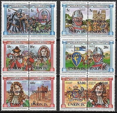 St Vincent Union Is Leaders Of The World Kings & Queens Specimen Set (Sc#732-42)