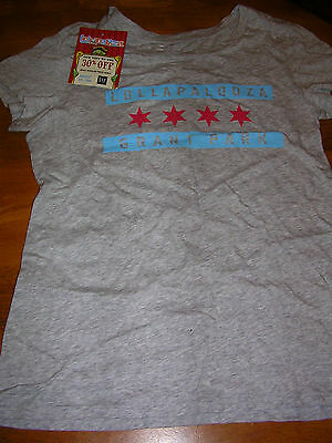 The Cure 21 Pilots Lollapalooza 2013 Chicago Gap t shirt Ladies S New with tag