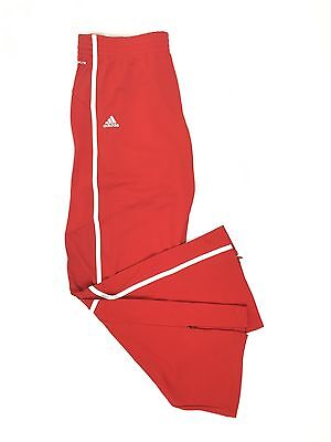 ADIDAS Climalite Womens L Large Red & White Sport Pro Team Basketball Pants New