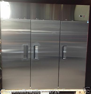 NEW 3 Door Freezer STAINLESS STEEL REACH IN Commercial Atosa #1149 NSF on Wheels