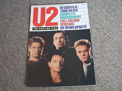 U2 Undying Fire Foto File 4 UK MAGAZINE PIPELINE 1987 Excellent Condition