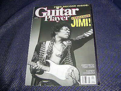 GUITAR PLAYER MAY '89 with JIMI HENDRIX 'RED HOUSE' FLEXI