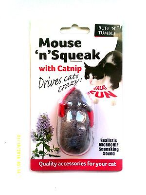 Ruff N Tumble Mouse N Squeak Catnip Toy With Squeaking Sound