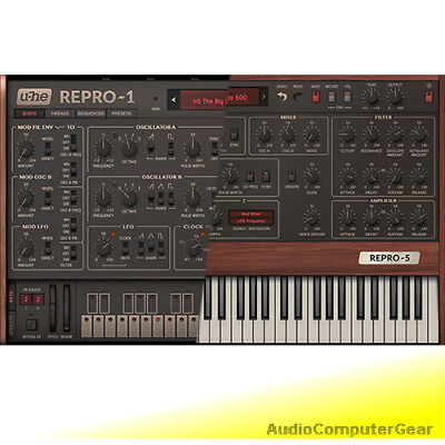 u-he REPRO 1 and Prophet 5 Plug-in bundle Analog Synthesizer Software Synth NEW