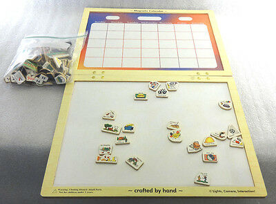 Large Wall Calendar with 130 Magnetic Pieces Melissa & Doug
