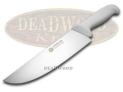 """BOKER ARBOLITO Kitchen Cutlery White Synthetic Poly 8"""" Stainless BBQ Knife"""