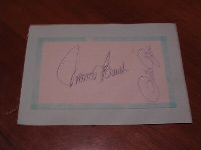 Johnny Bench and Pete Rose  Autographed Index Card JSA AUC Certified