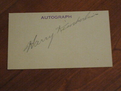 Harry Kimberlin Autographed Index Card JSA Auction Certified