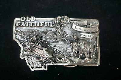 West Yellowstone Snowmobile Montana Old Faithful Trail Belt Buckle Limited!!!!
