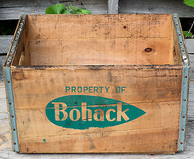 Vintage Bohack Supermarket Fruit Vegetable Wood Crate