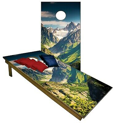 Cornhole Great Woodland Mountain Pass Boards BEANBAG TOSS GAME w Bags Set 1376